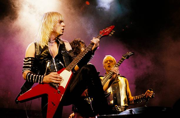 Photo of JUDAS PRIEST and KK DOWNING and Rob HALFORD