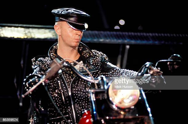 ODEON Photo of JUDAS PRIEST and Rob HALFORD Rob Halford performing live onstage riding motorbike