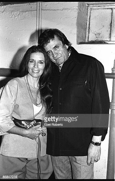 UNITED STATES JANUARY 01 Photo of June CARTER and Johnny CASH Portrait of Johnny Cash with wife June Carter Cash