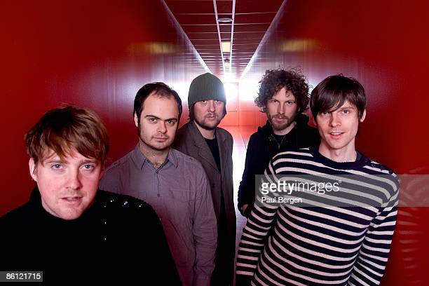 HALL Photo of KAISER CHIEFS Posed group portrait LR Ricky Wilson Nick Baines Andrew White Simon Rix and Nick Hodgson