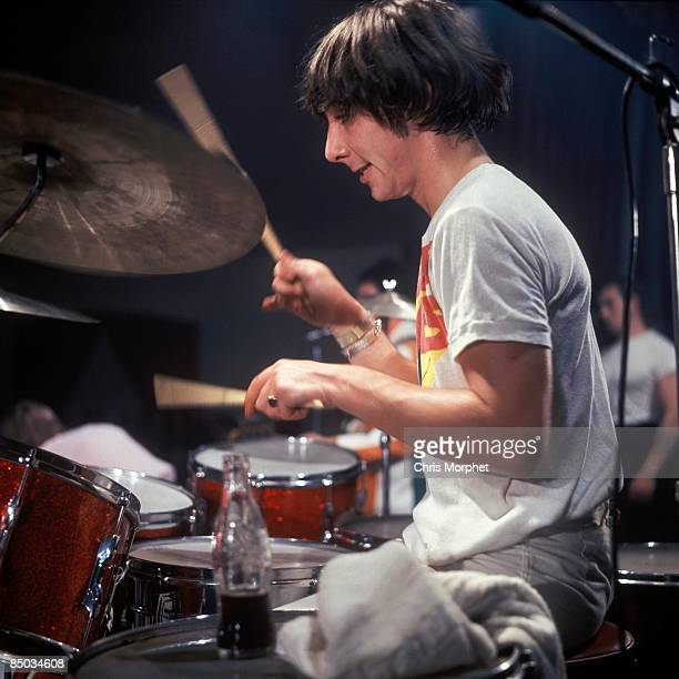 Photo of Keith MOON and The Who Keith Moon performing live onstage playing drums
