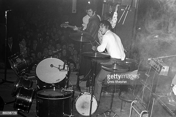 HALLS Photo of Keith MOON and The Who Keith Moon performing live onstage smashing drum kit