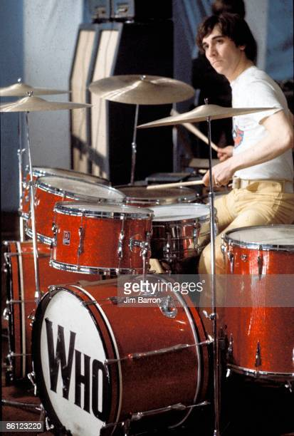FESTIVAL Photo of Keith Moon of The Who performing live onstage playing drums
