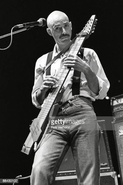 UTRECHT Photo of KING CRIMSON and Tony LEVIN Tony Levin performing on stage in Vredenburg playing a Chapman Stick