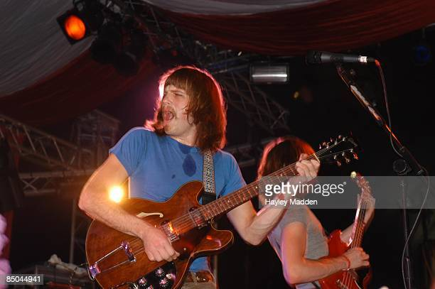 FESTIVAL Photo of KINGS OF LEON Glasotnbury 2003 Saturday 28th July 2003
