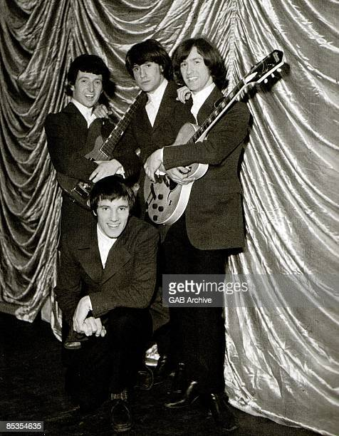 Photo of KINKS and Ray DAVIES and Dave DAVIES and Pete QUAIFE and Mick AVORY Clockwise from bottom Mick Avory Pete Quaife Ray Davies Dave Davies...
