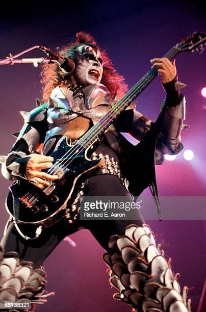 Photo of KISS and Gene SIMMONS Gene Simmons performing live onstage