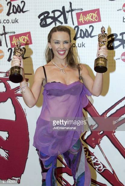COURT Photo of Kylie MINOGUE BRIT Awards 2002 Earls Cort 2 London 20th February 2002