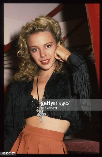 Photo of Kylie MINOGUE, posed at Aalsmeer TV Studios