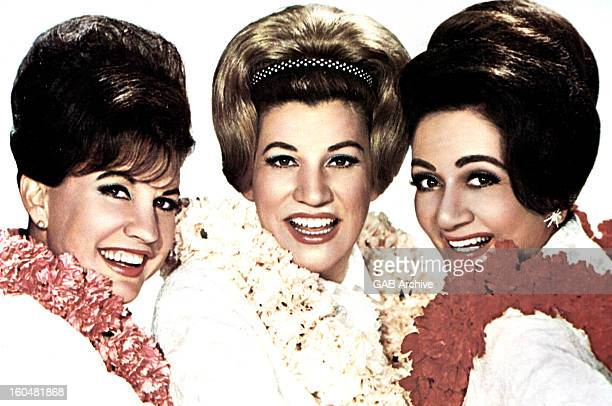 Photo of LaVerne Andrews Patty Andrews and Maxene Andrews from American vocal group The Andrews Sisters posed circa 1965