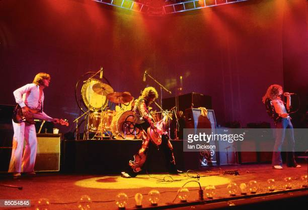John Paul Jones Jimmy Page Robert Plant performing live onstage