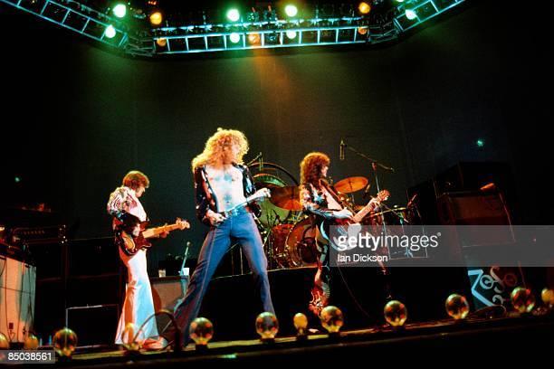 John Paul Jones Robert Plant Jimmy Page performing live onstage