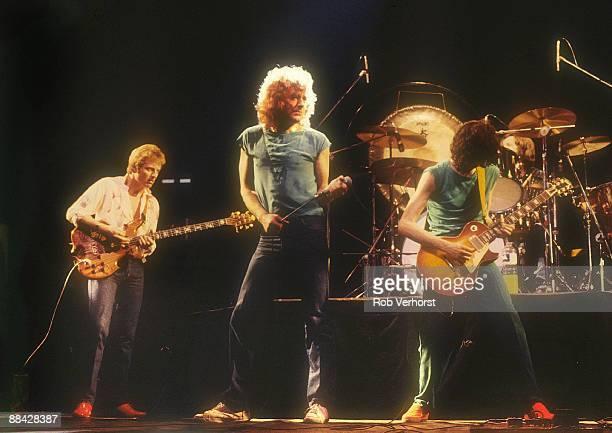 AHOY Photo of LED ZEPPELIN LR John Paul Jones Robert Plant Jimmy Page performing live onstage