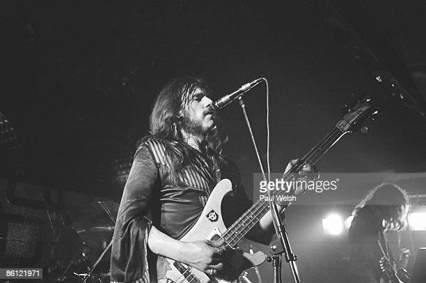 Photo of LEMMY and MOTORHEAD Ian 'Lemmy' Kilmister performing on stage at the Electric Circus