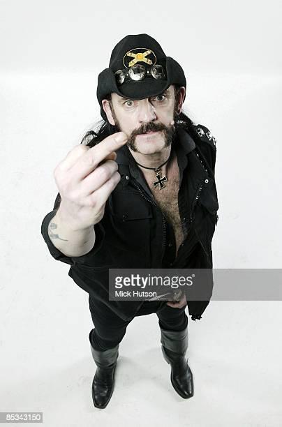 Photo of LEMMY and MOTORHEAD Lemmy from Motorhead posed studio