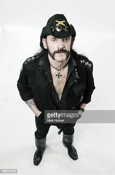 Photo of LEMMY and MOTORHEAD Lemmy from Motorhead posed studio