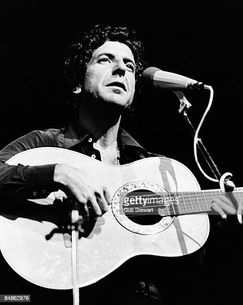 HALL Photo of Leonard COHEN performing live onstage playing Ovation acoustic guitar