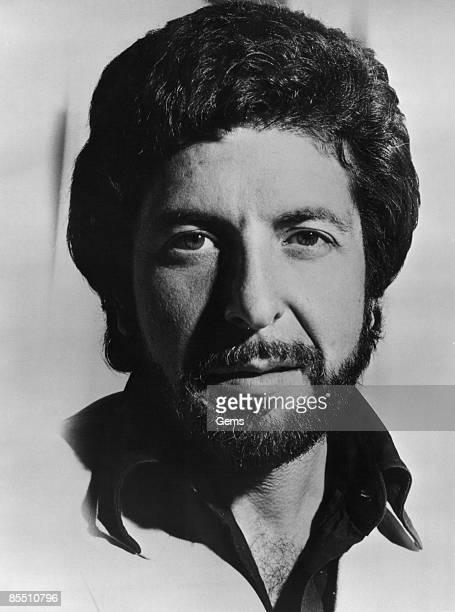 Photo of Leonard COHEN posed studio with beard c1975/1976