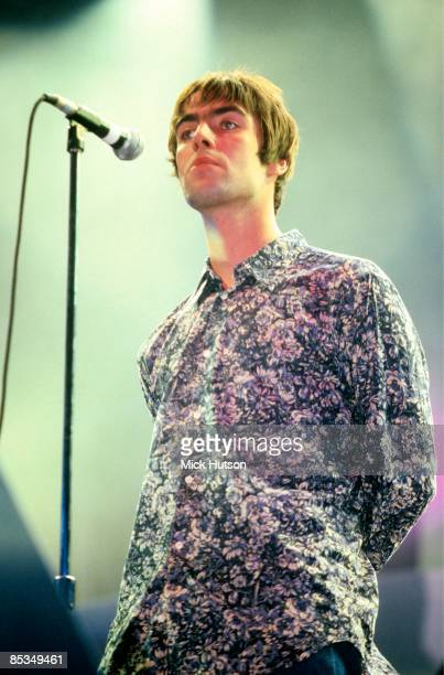COURT Photo of Liam GALLAGHER and OASIS Liam Gallagher performing on stage