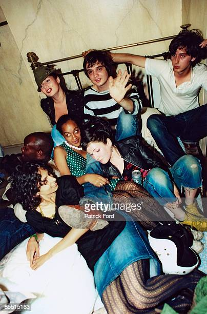 Photo of LIBERTINES and Carl BARAT and Pete DOHERTY Pete Doherty and Carl Barat with friends at the Albion Rooms Pete Doherty and Carl Barat's...