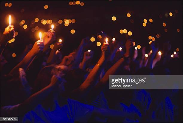Photo of LIGHTERS and CONCERT and AUDIENCE