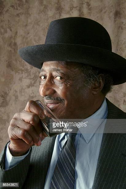 CHICAGO Photo of Little Arthur DUNCAN Posed portrait of Little Arthur Duncan with harmonica