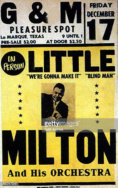 TEXAS Photo of LITTLE MILTON and CONCERT POSTERS Little Milton