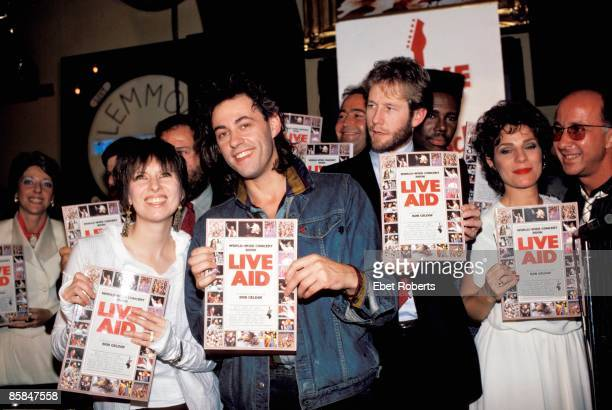 Photo of LIVE AID Book press conference