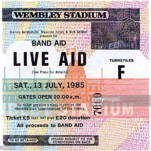 STADIUM Photo of LIVE AID Ticket from Live Aid Wembley concert