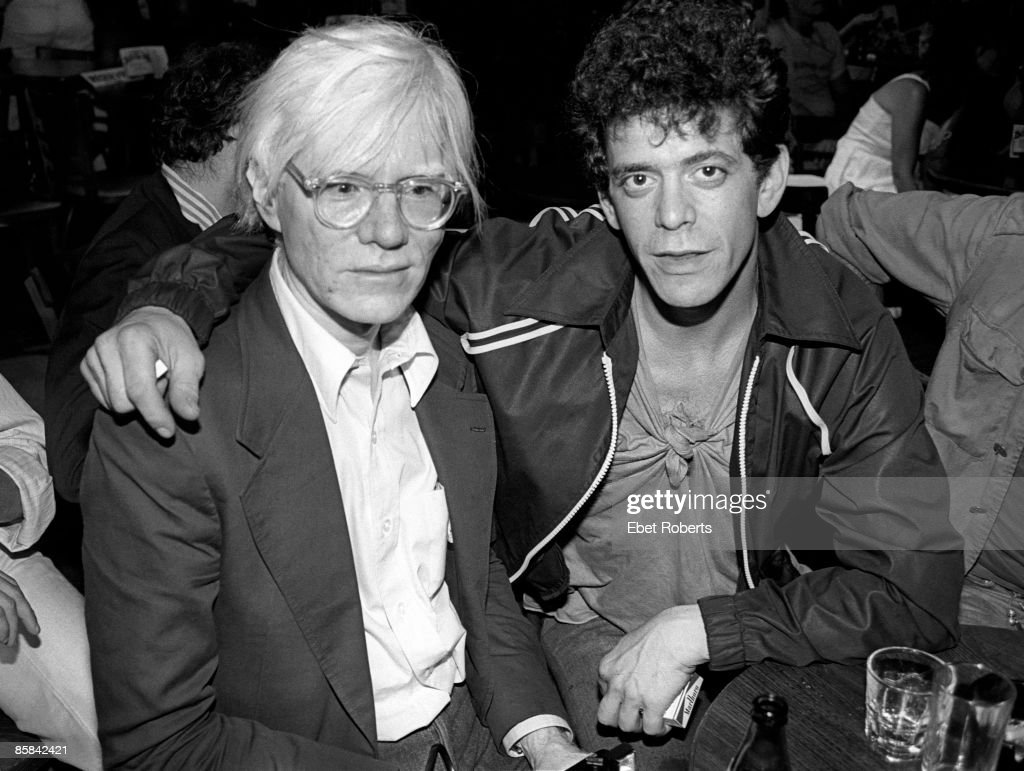 BOTTOMLINE Photo of Lou REED and Andy WARHOL, Artist Andy Warhol and Lou Reed at a David Johanson show