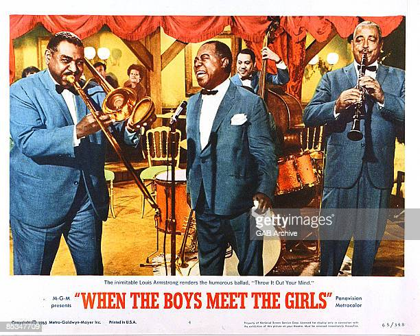 Photo of Louis ARMSTRONG Film poster for When The Boys Meet The Girls