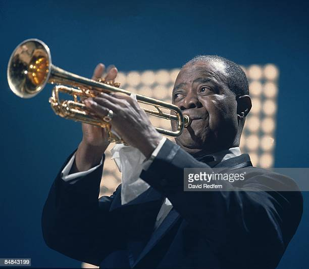 Photo of Louis ARMSTRONG performing on the Kraft Music Hall TV show