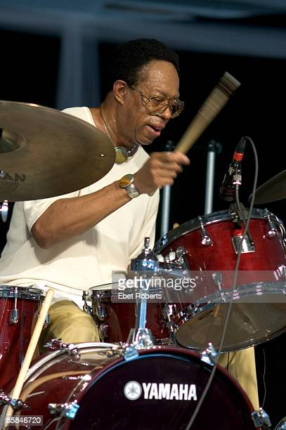 Photo of Louis HAYES, Louis Hayes performing at the New Orleans Jazz and Heritage Festival in New Orleans, Louisiana on April 29, 2005