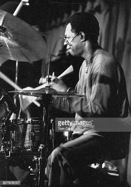 Photo of Louis Hayes performing in Oakland, California. Circa 1990