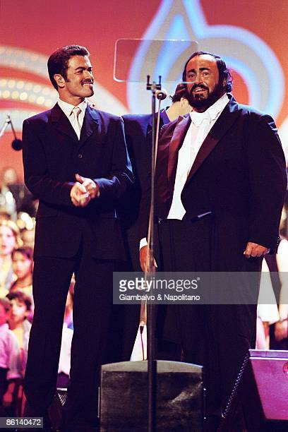 MODENA Photo of Luciano PAVAROTTI and George MICHAEL with Pavarotti