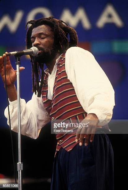 USA Photo of LUCKY DUBE performing live on stage at the WOMAD Tour at Jones Beach in Wantagh New York