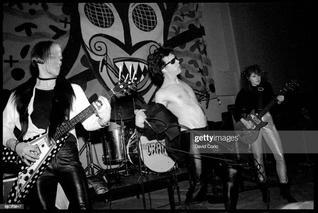 Photo Of Lux INTERIOR And CRAMPS And Bryan GREGORY And POISON IVY; L R:  Bryan