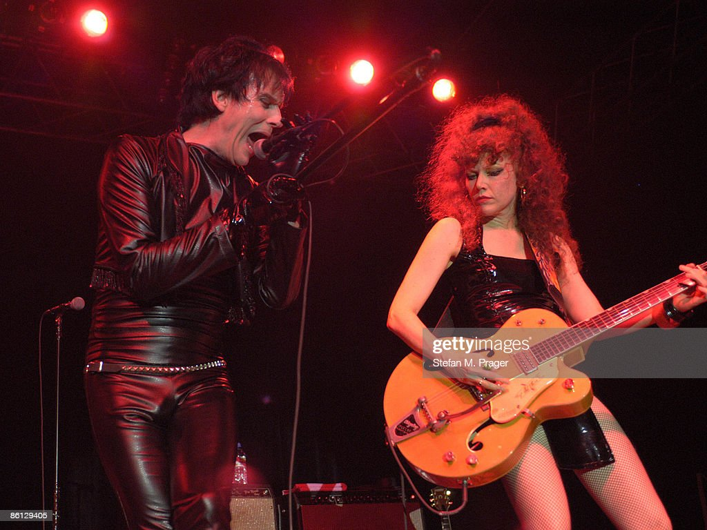 Photo Of Lux INTERIOR And CRAMPS; Lux Interior (left) Live At The Elserhalle