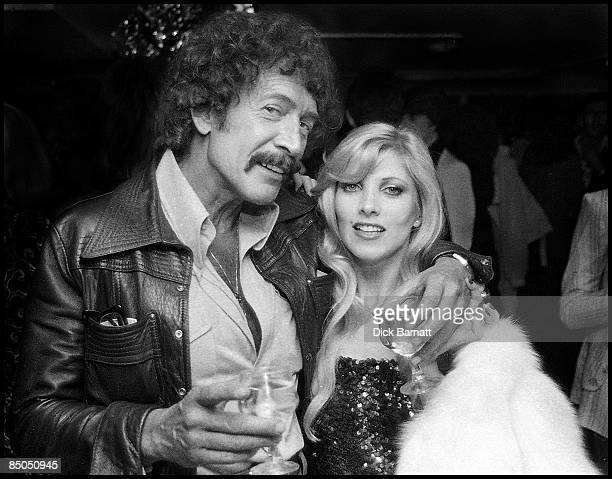 Photo of Lyndsey De Paul Backstage with Peter Wyngarde