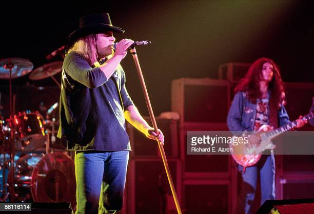 Photo of LYNYRD SKYNYRD and Ronnie Van ZANT and Gary ROSSINGTON Ronnie Van Zant and Gary Rossington performing on stage