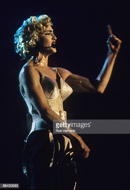 OMNISPORTS Photo of MADONNA Madonna performing on stage corset Blond Ambition Tour