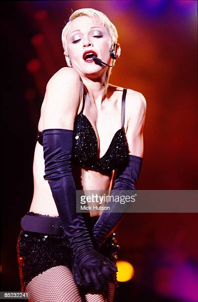 STADIUM Photo of MADONNA Madonna performing on stage Girlie Show tour