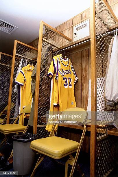 Photo of Magic Johnson's locker at the Great Western Forum in Inglewood California NOTE TO USER User expressly acknowledges that by downloading and...