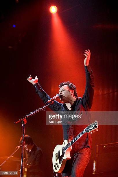 ARENA Photo of MANIC STREET PREACHERS and James Dean BRADFIELD James Dean Bradfield performing on stage as part of the Shockwaves NME Awards 2008 Big...