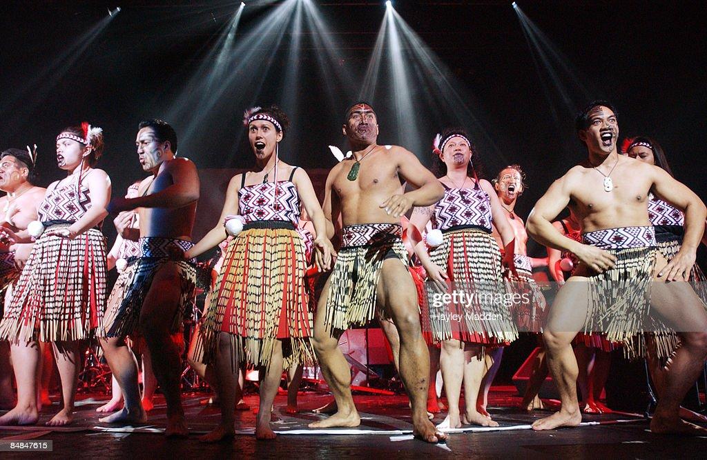 Maori Dancers: Photo Of MAORI DANCERS; Ngati Ranana Performing Arts Group