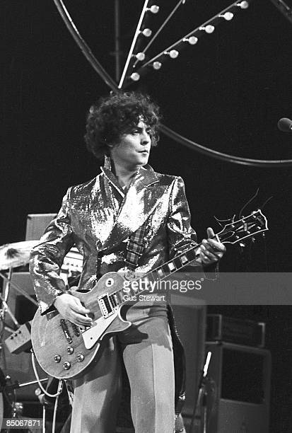 Photo of Marc BOLAN and T REX; Marc Bolan performing on an ITV tv show