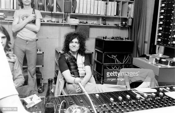 Photo of Marc BOLAN; Marc Bolan / T-Rex, Rosenberg Studios, Copenhagen, where Marc was recording, March 1972