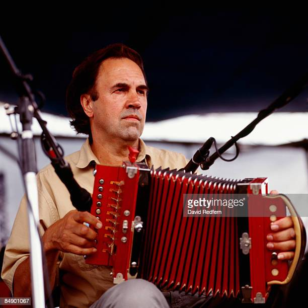 FESTIVAL Photo of Marc SAVOY Cajun musician Marc Savoy performing on stage playing accordion 244