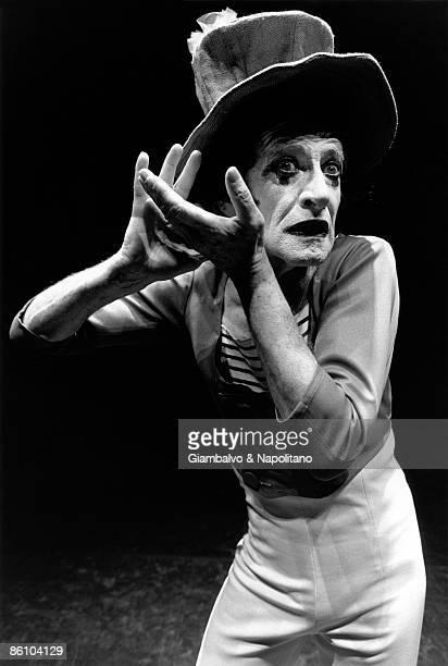 Photo of Marcel MARCEAU Posed portrait of mime artist Marcel Marceau