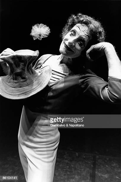 Photo of Marcel MARCEAU; Posed portrait of mime artist Marcel Marceau
